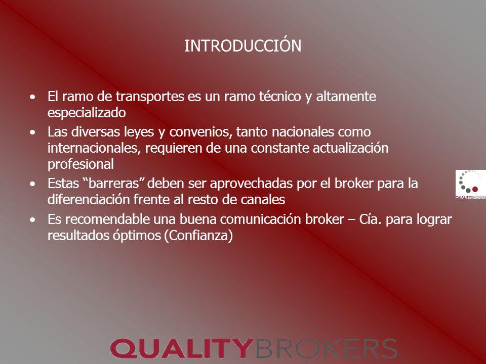 INTRODUCCIÓN El ramo de transportes es un ramo técnico y altamente especializado Las diversas leyes y convenios, tanto nacionales como internacionales