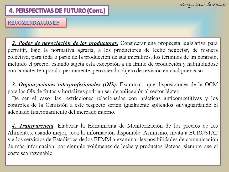 2. Poder de negociación de los productores.
