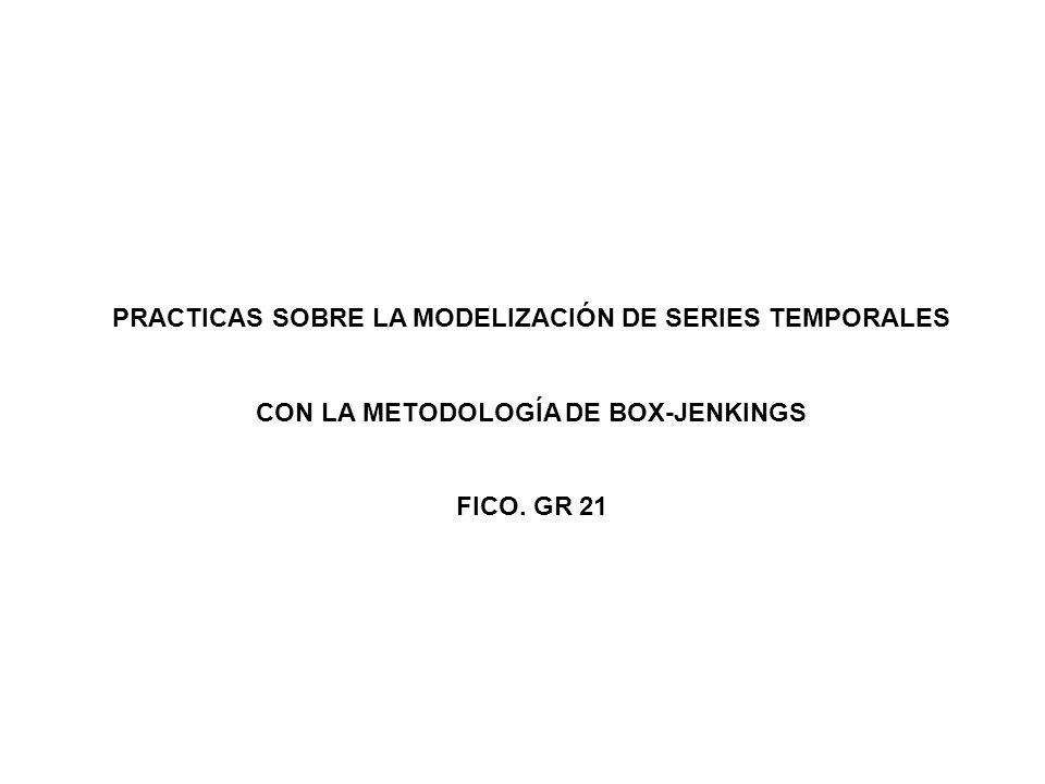 PRACTICAS SOBRE LA MODELIZACIÓN DE SERIES TEMPORALES CON LA METODOLOGÍA DE BOX-JENKINGS FICO. GR 21