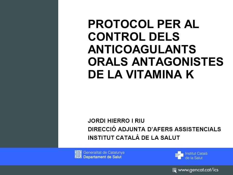 2 Protocol per al control dels anticoagulants orals antagonistes de la Vit.