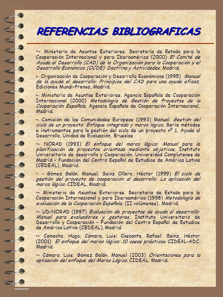 - Ministerio de Asuntos Exteriores. Secretaría de Estado para la Cooperación Internacional y para Iberoamérica (2000) El Comité de Ayuda al Desarrollo