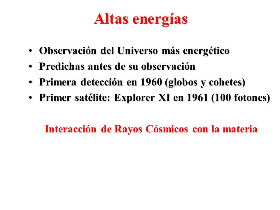 Observación del Universo más energéticoObservación del Universo más energético Predichas antes de su observaciónPredichas antes de su observación Prim