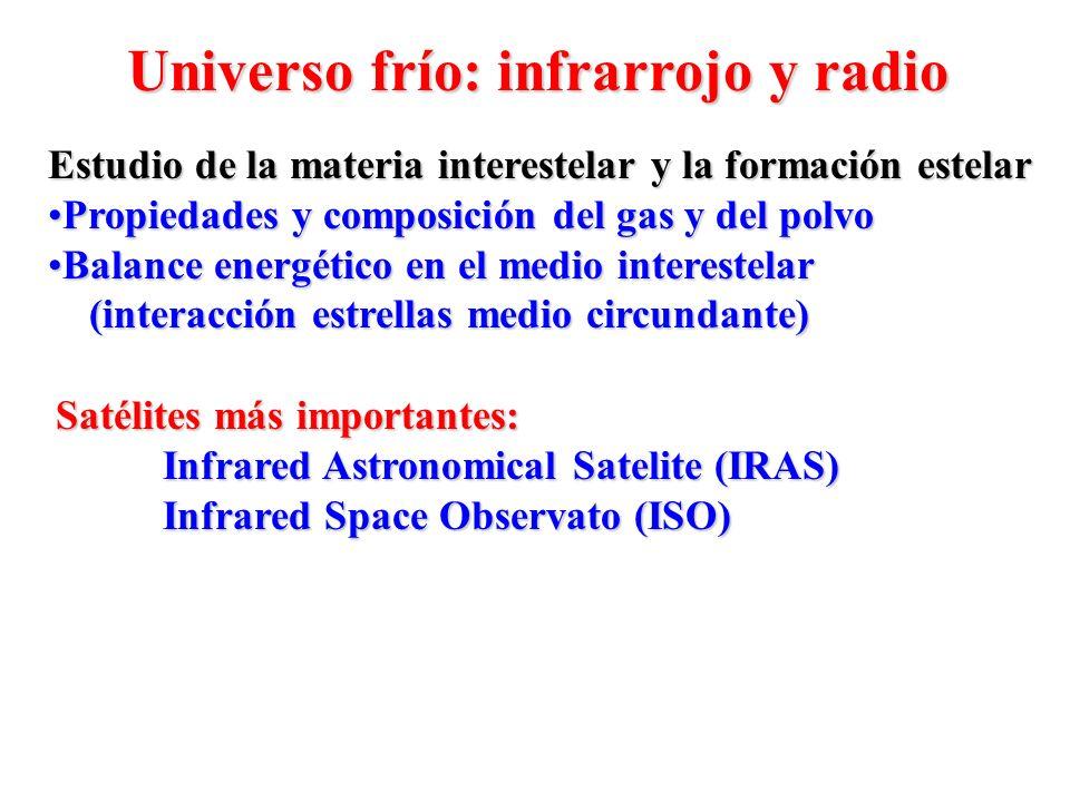 Estudio de la materia interestelar y la formación estelar Propiedades y composición del gas y del polvoPropiedades y composición del gas y del polvo B