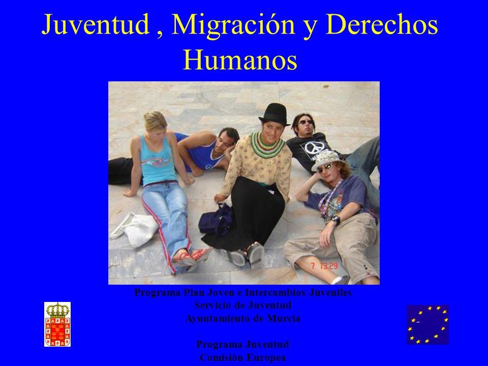 Juventud, Migración y Derechos Humanos Programa Plan Joven e Intercambios Juveniles Servicio de Juventud Ayuntamiento de Murcia Programa Juventud Comi