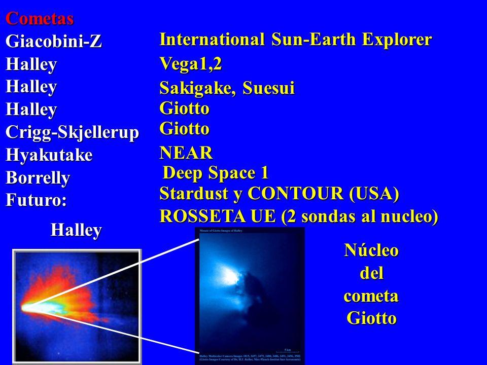 AsteroidesGraspaIdaMatildeBrailleErosFuturo: NEAR. NEAR Galileo. Galileo. Deep Space1. Nurses C (Japón, 2002), NEAP (EEUU,2002) Posado en la superfici