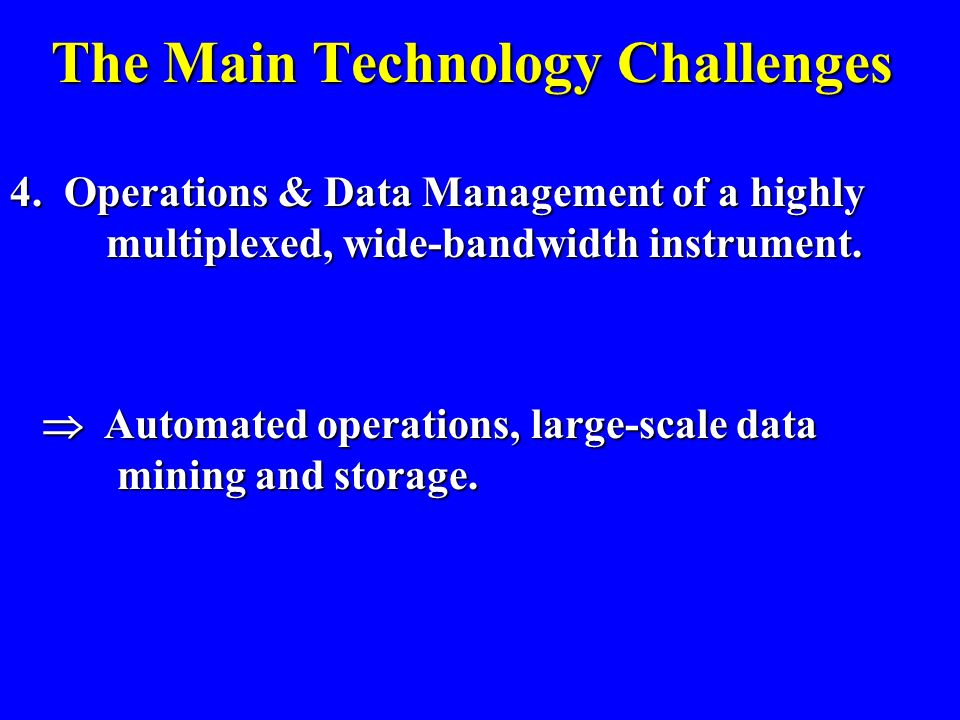The Main Technology Challenges 3. Promoting & Maintaining radio-quiet sites. Campaigning & working with governmental and international agencies and in