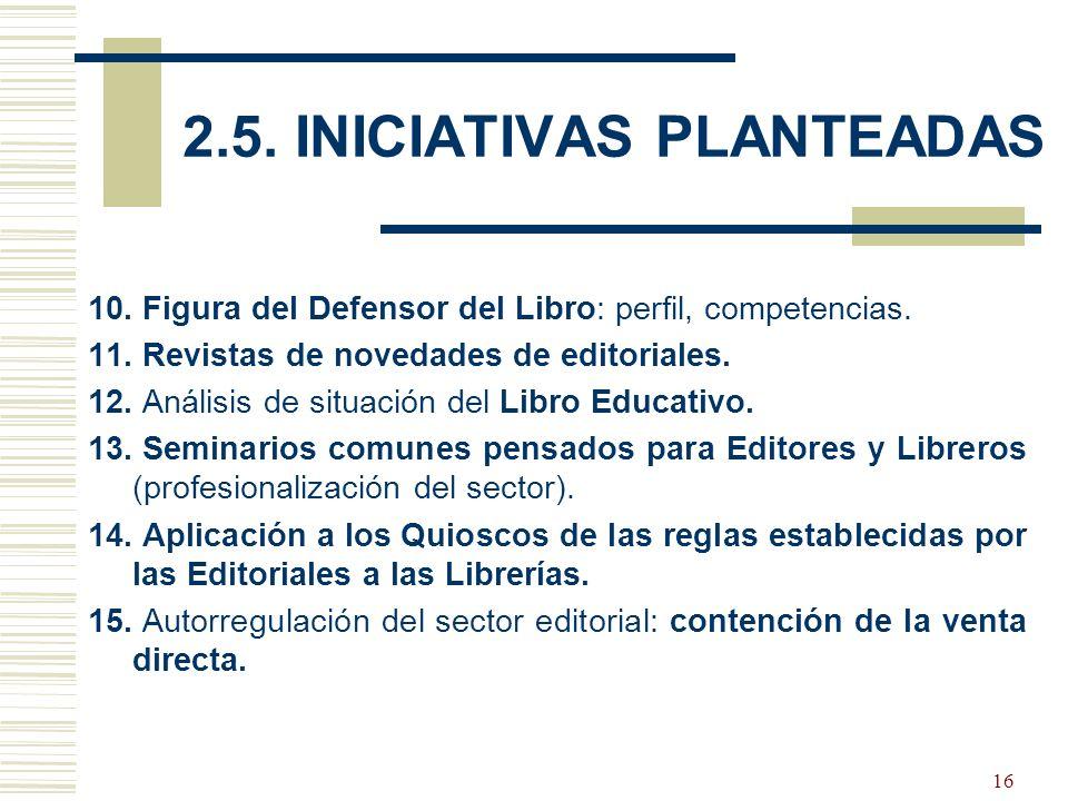 17 Iniciativas seleccionadas (priorizadas): Campañas conjuntas temáticas.