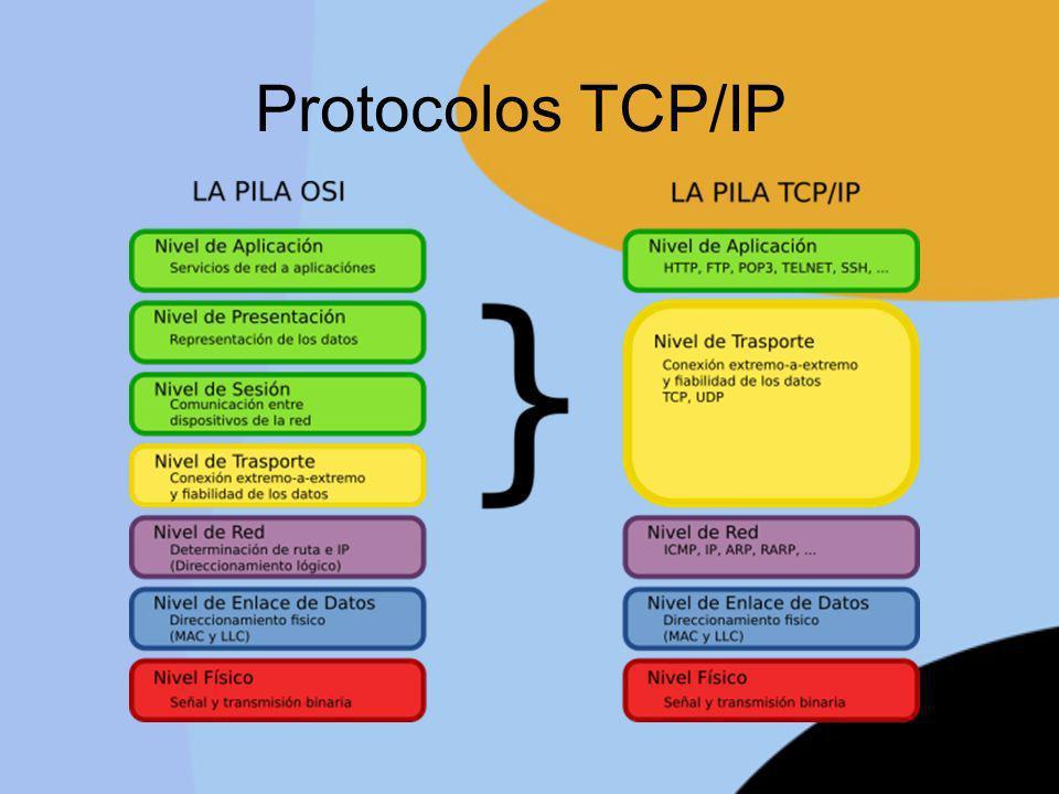Protocolo de resolución de direcciones ARP y RARP El protocolo ARP sirve de enlace entre el nivel de red y el de enlace del modelo OSI.
