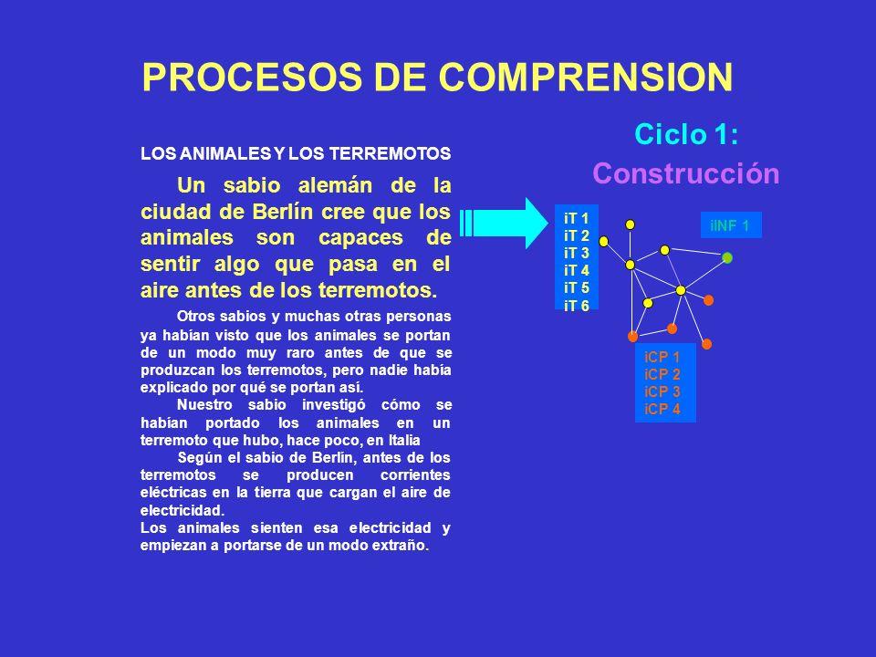 Comprensión: Punto de partida Meta: representación mental coherente Comprender: conectar Texto - CP lector Operaciones mentales Memoria de Trabajo lim