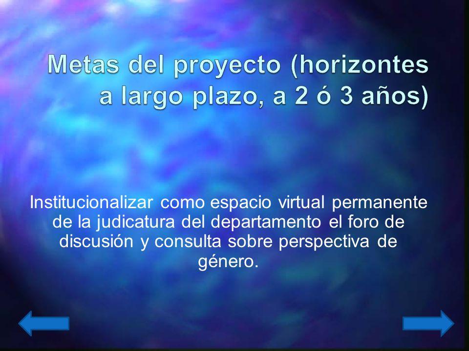 Realizar tres foros virtuales sobre cada uno de los ejes temáticos del proyecto, con la publicación de una separata virtual.