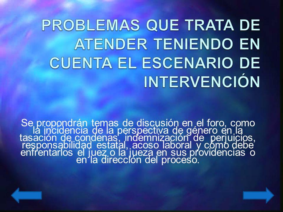 Establecer un foro virtual permanente de discusión sobre perspectiva de género en la página web del Colegio de Jueces y Fiscales de Antioquia, que permita a sus usuarios interactuar en la discusión y análisis de problemas específicos relacionados con la perspectiva de género y proponer jurisprudencia elaborada por los participantes.