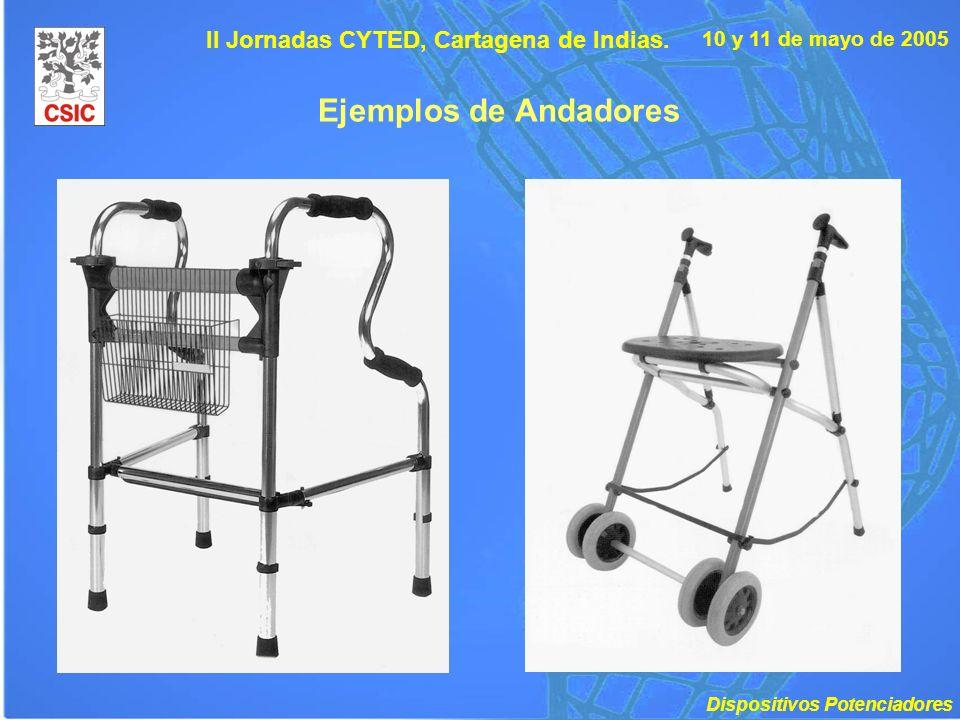 10 y 11 de mayo de 2005 II Jornadas CYTED, Cartagena de Indias. Ejemplos de Andadores Dispositivos Potenciadores