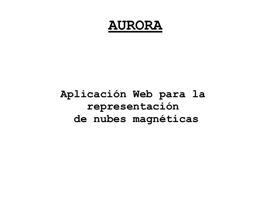 AURORA Aplicación Web para la representación de nubes magnéticas