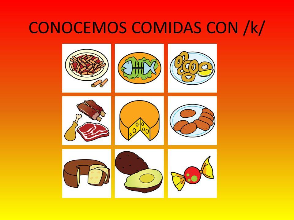 CONOCEMOS COMIDAS CON /k/