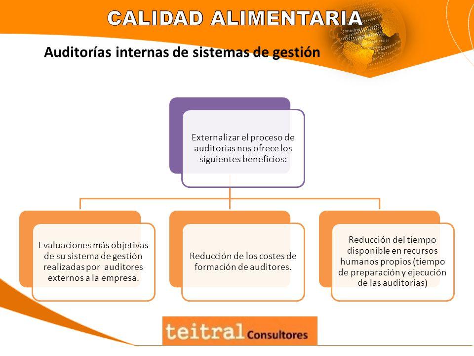Externalizar el proceso de auditorias nos ofrece los siguientes beneficios: Evaluaciones más objetivas de su sistema de gestión realizadas por auditor
