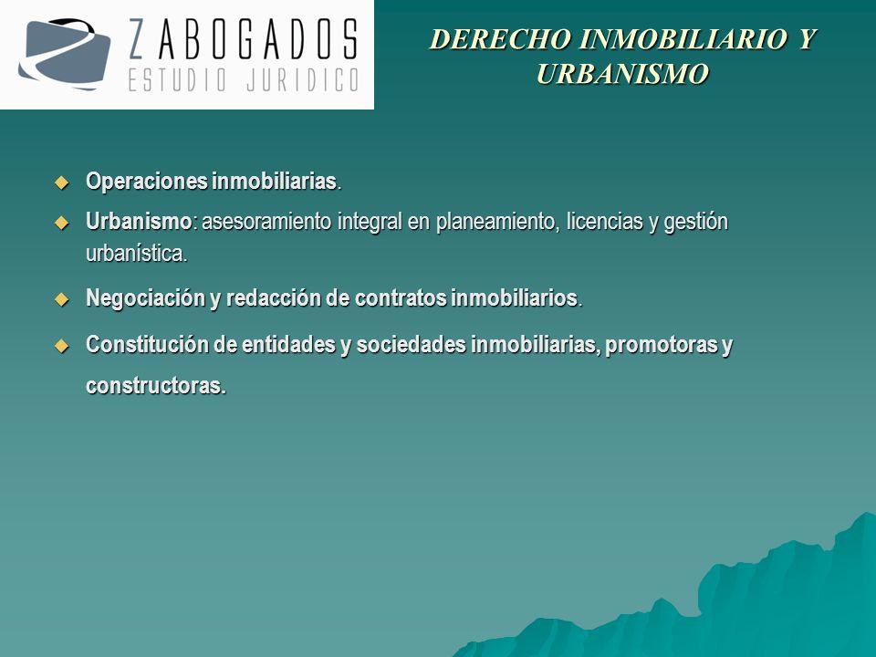 Operaciones inmobiliarias. Operaciones inmobiliarias. Urbanismo : asesoramiento integral en planeamiento, licencias y gestión urbanística. Urbanismo :