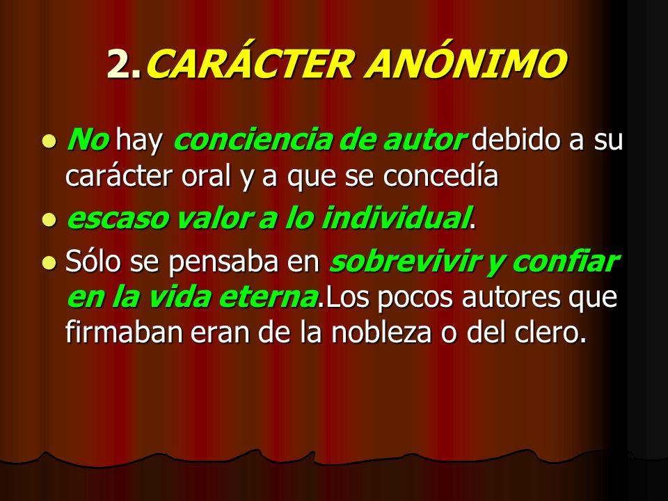 1.LITERATURA ORAL CANCIONES RECITACIÓNPÚBLICA JUGLARES