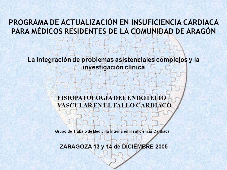 PROGRAMA DE ACTUALIZACIÓN EN INSUFICIENCIA CARDIACA PARA MÉDICOS RESIDENTES DE LA COMUNIDAD DE ARAGÓN Grupo de Trabajo de Medicina Interna en Insufici