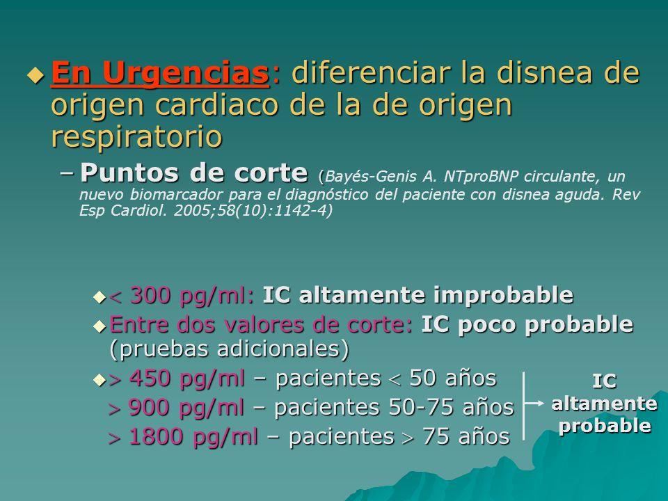 En Urgencias: diferenciar la disnea de origen cardiaco de la de origen respiratorio En Urgencias: diferenciar la disnea de origen cardiaco de la de or