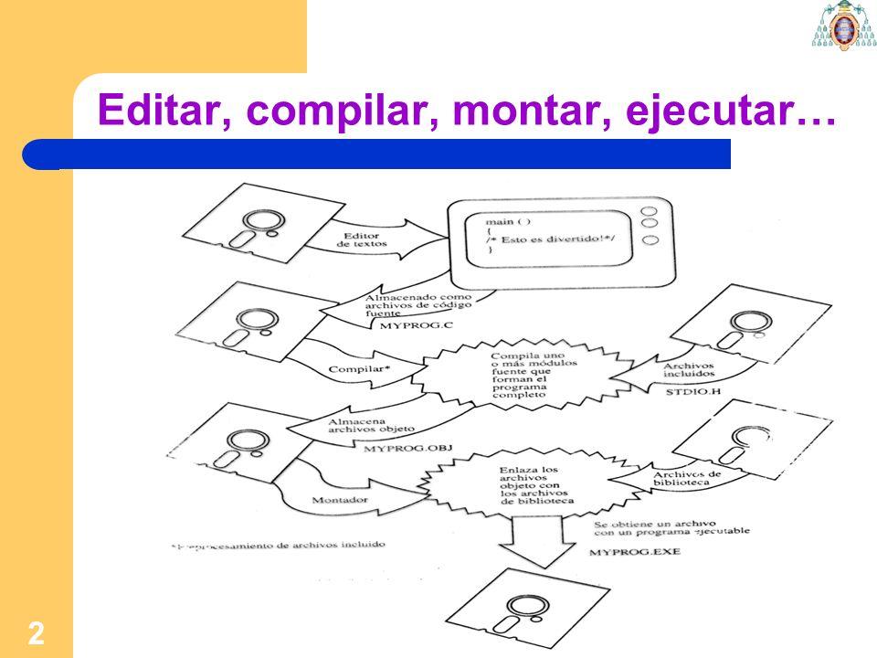 13 [host] gedit ejercicio1.c ………… [host] ls ejercicio1.c [host] gcc ejercicio1.c [host] ls ejercicio1.c a.out [host]./a.out Bienvenido a la programacion en C.