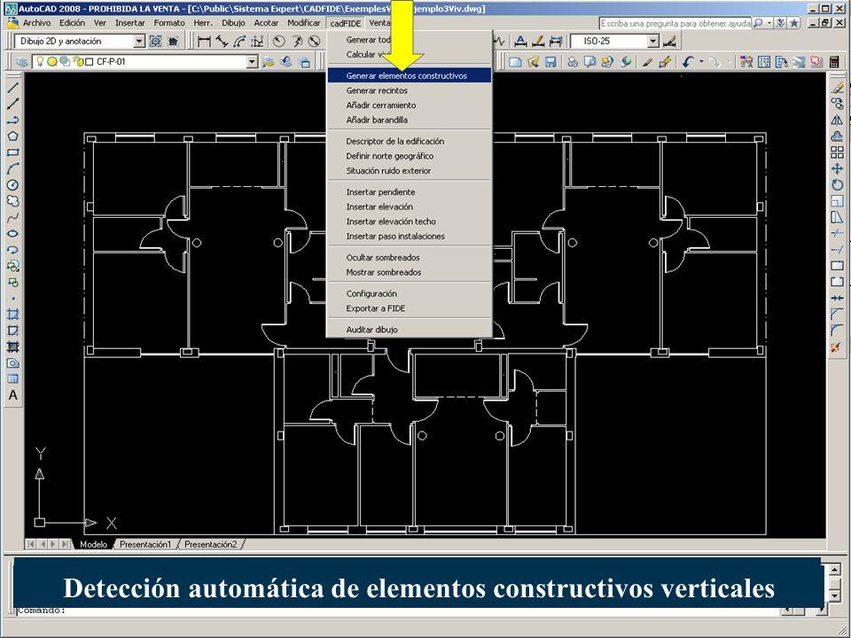 Detección automática de elementos constructivos verticales
