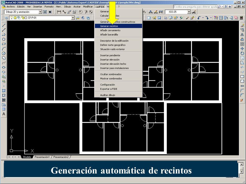 Generación automática de recintos