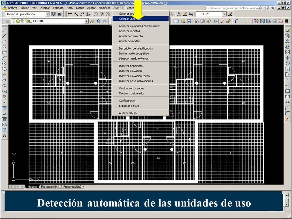 Detección automática de las unidades de uso