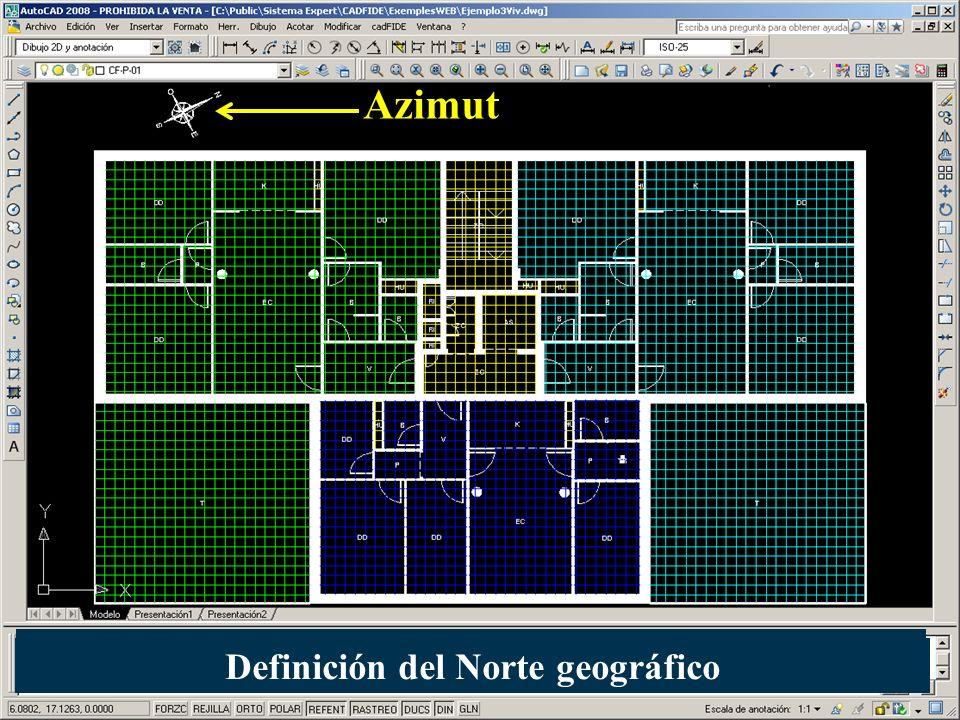 Azimut Definición del Norte geográfico