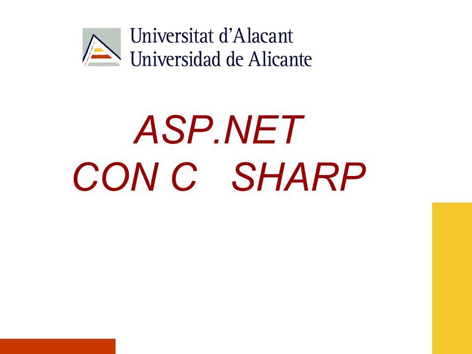 ASP.NET CON C SHARP