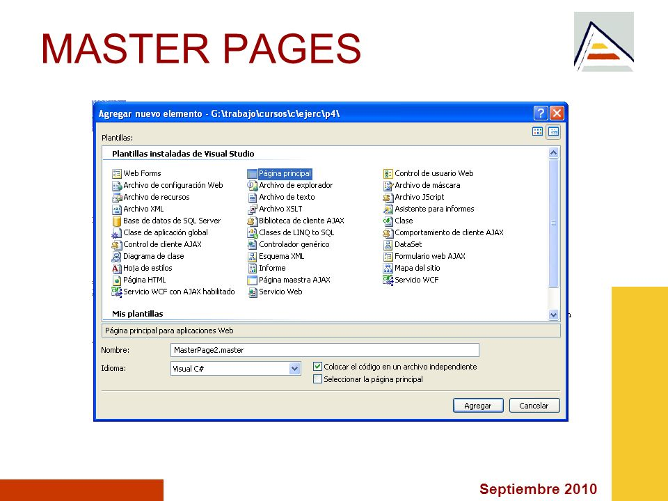 Septiembre 2010 MASTER PAGES