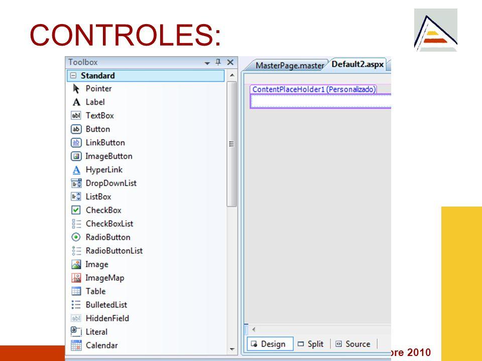 Septiembre 2010 CONTROLES: