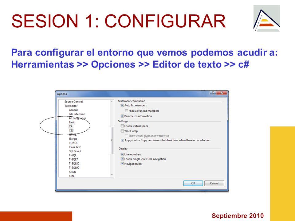 Septiembre 2010 CONTENT PAGES: <%@ Page Language= C# MasterPageFile= ~/MasterPage.master AutoEventWireup= true CodeFile= Default__.aspx.cs Inherits= Default__ Title= Página sin título %>