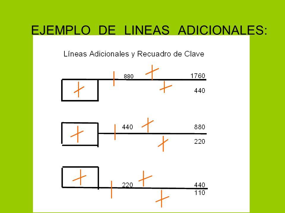 EJEMPLO DE LINEAS ADICIONALES: