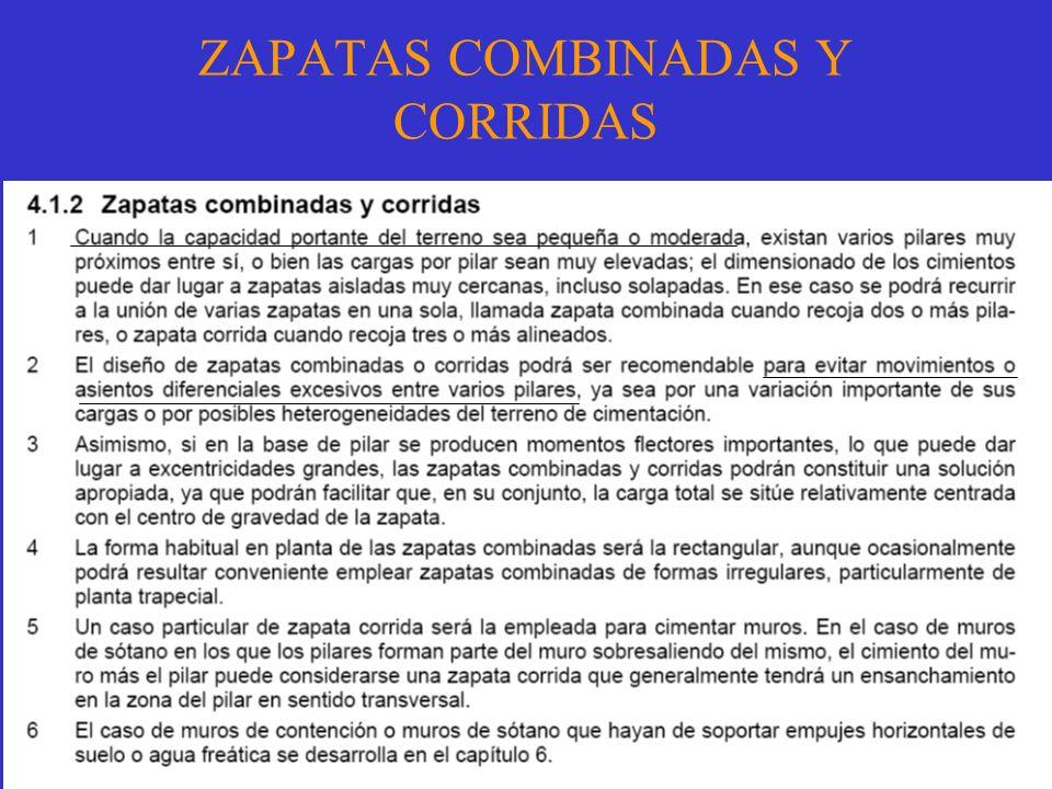 ZAPATAS COMBINADAS Y CORRIDAS