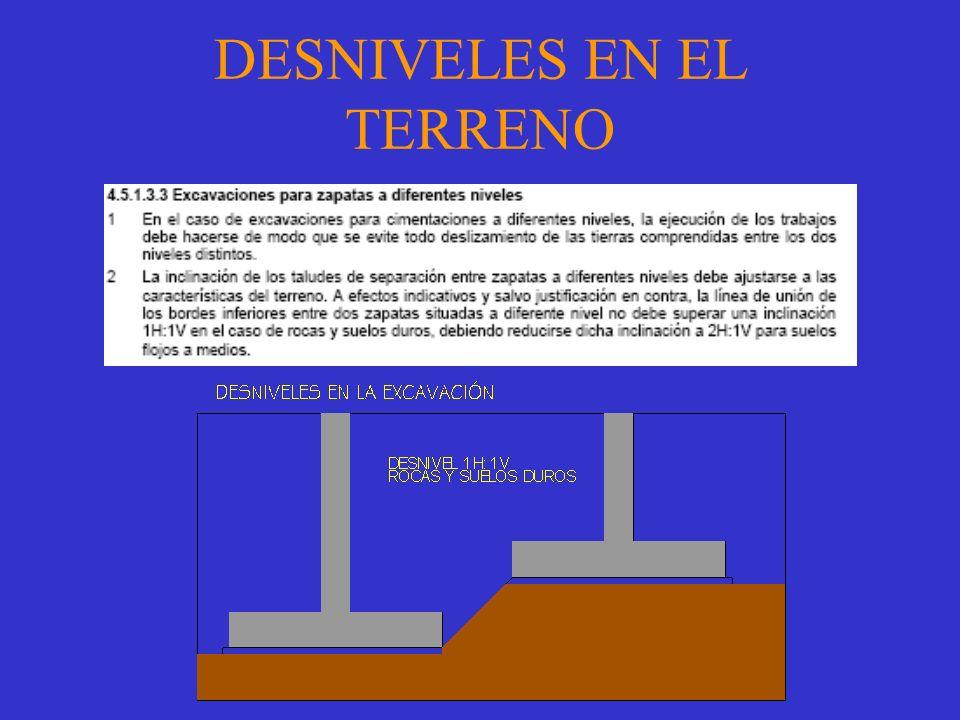 DESNIVELES EN EL TERRENO
