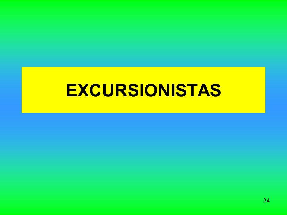 34 EXCURSIONISTAS