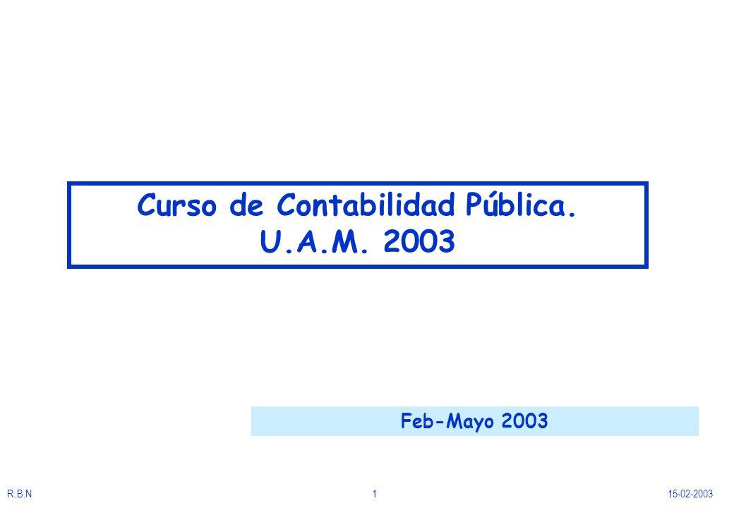 R.B.N115-02-2003 Curso de Contabilidad Pública. U.A.M. 2003 Feb-Mayo 2003