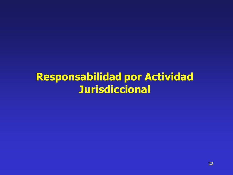 22 Responsabilidad por Actividad Jurisdiccional