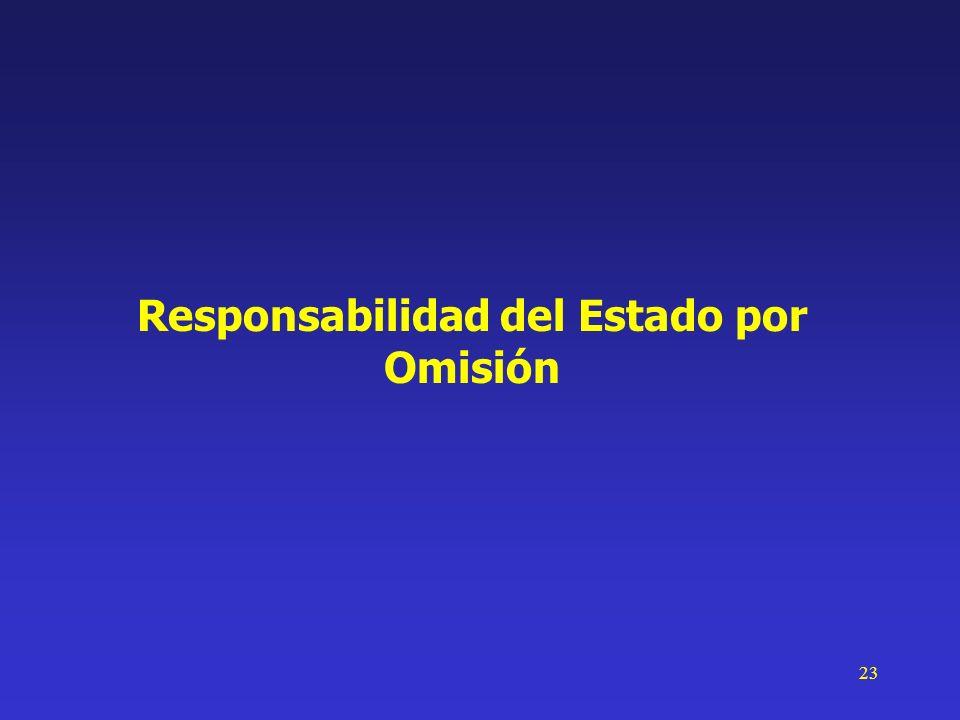 23 Responsabilidad del Estado por Omisión