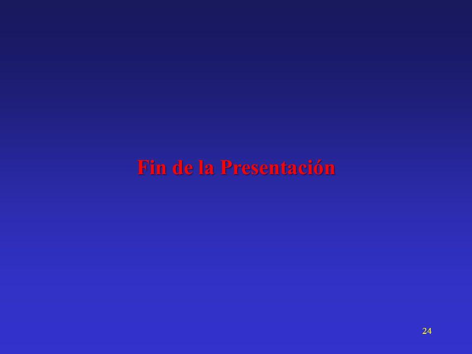24 Fin de la Presentación