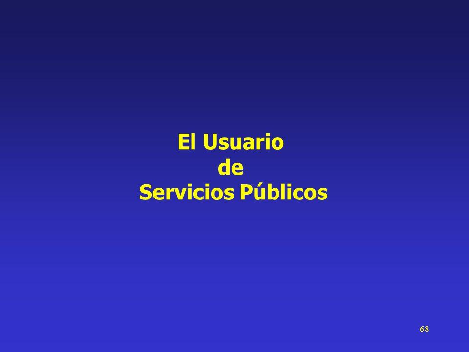 68 El Usuario de Servicios Públicos