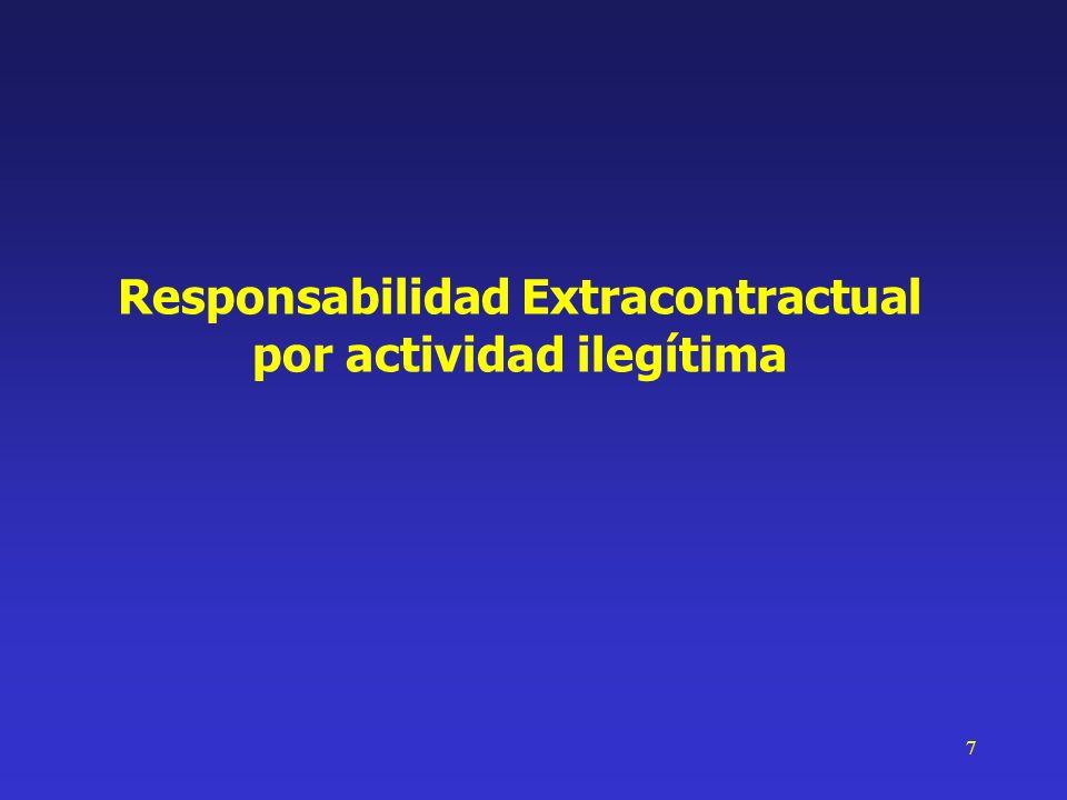 18 Presupuestos Presupuestos Responsabilidad Extracontractual por actividad legítima