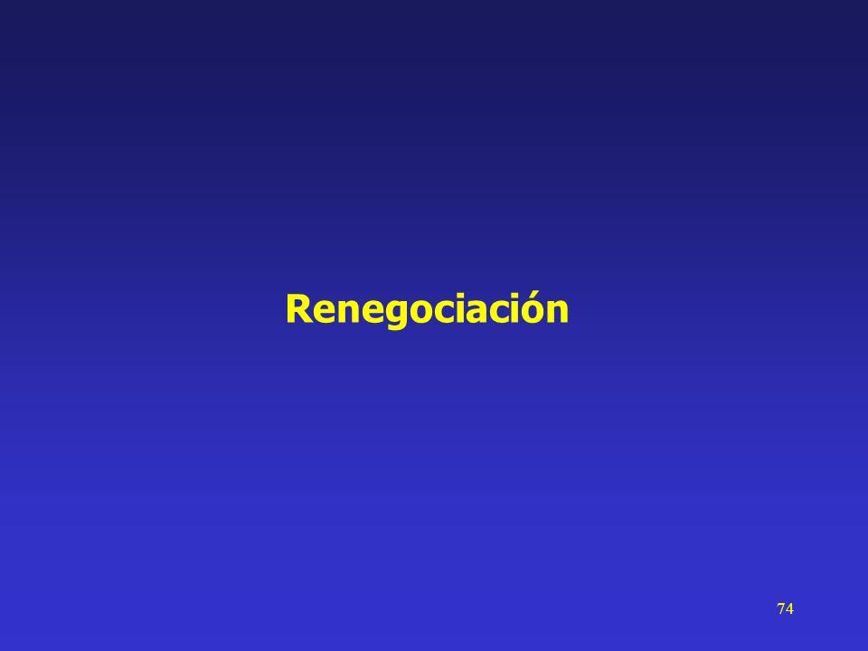 74 Renegociación