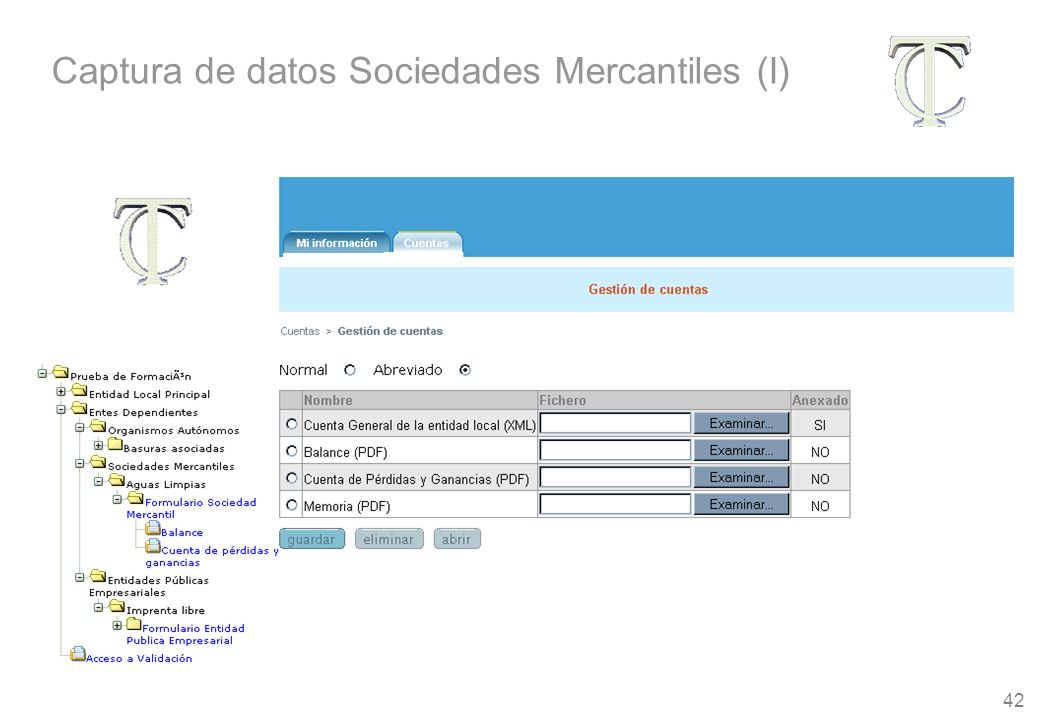 42 Captura de datos Sociedades Mercantiles (I)