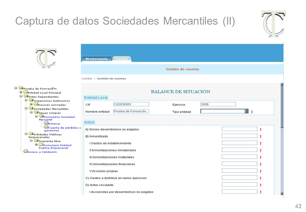 43 Captura de datos Sociedades Mercantiles (II)