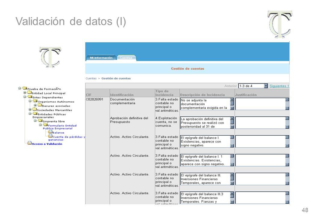 48 Validación de datos (I)