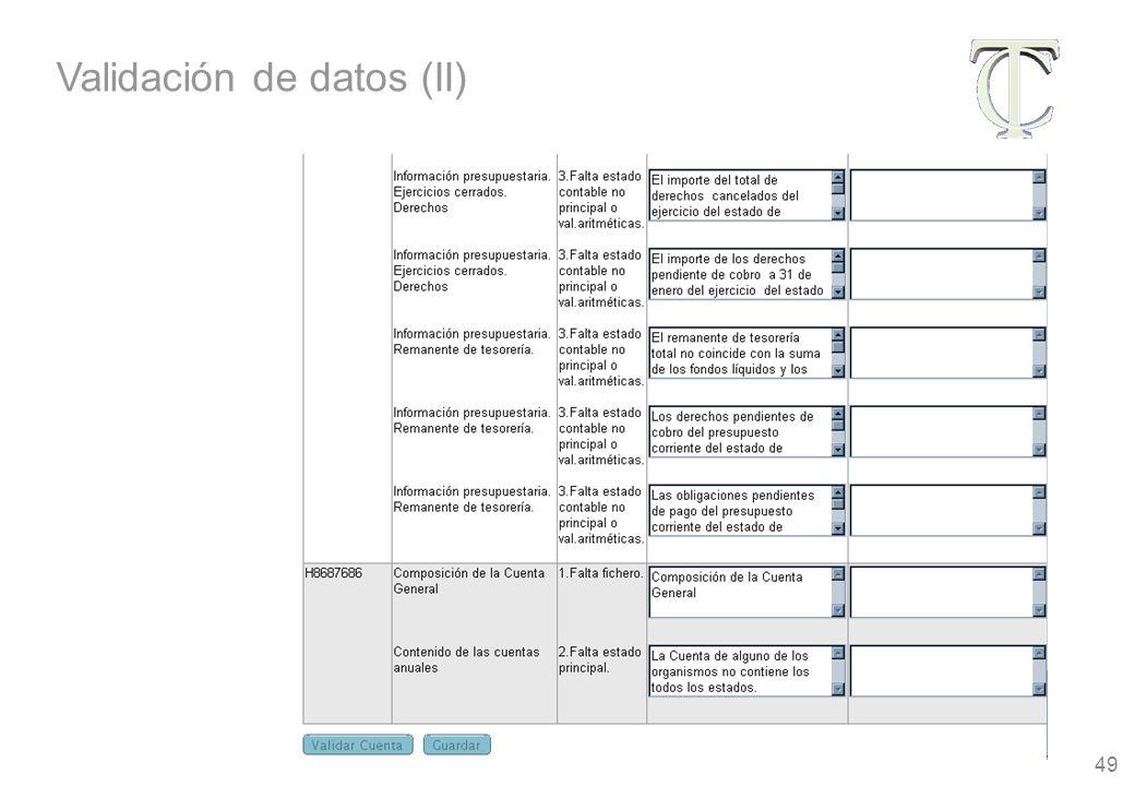 49 Validación de datos (II)