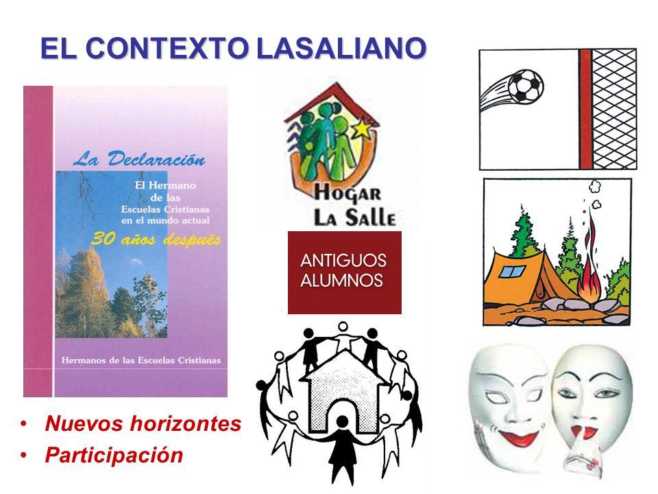 EL CONTEXTO LASALIANO Nuevos horizontes Participación