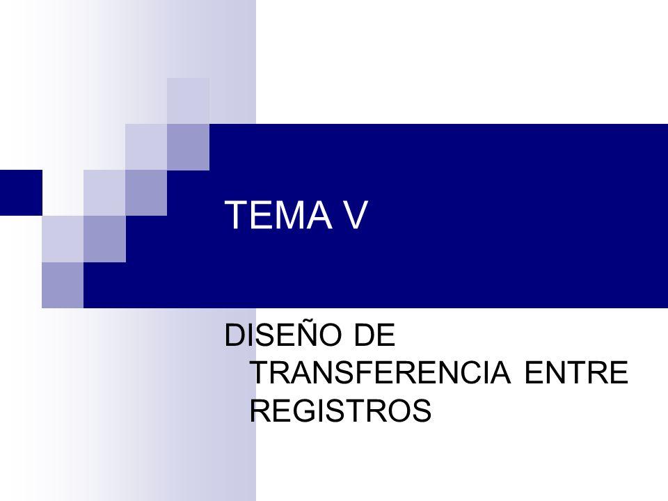 TEMA V DISEÑO DE TRANSFERENCIA ENTRE REGISTROS