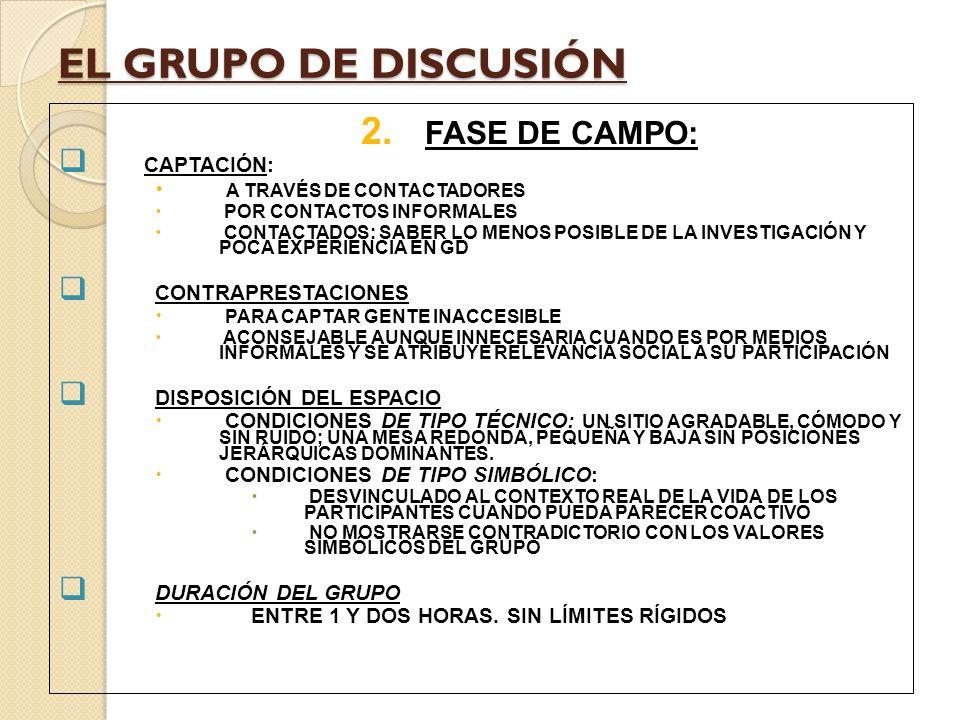 EL GRUPO DE DISCUSIÓN 2.